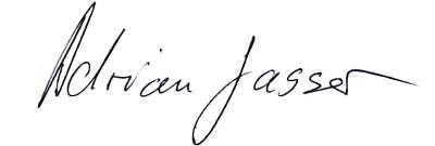 Unterschrift Adrian Gasser